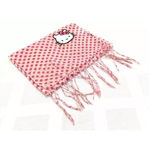 Hello Kitty by Sanrio Pink Polka Dot Scarf